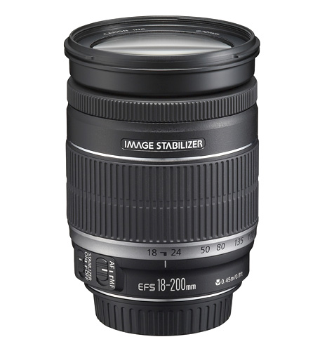 Canon EF-S 18-200mm telephoto lens